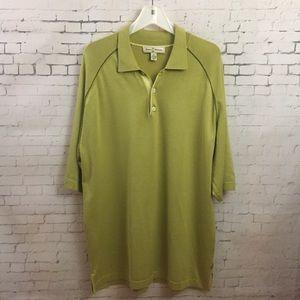 Tommy Bahama Silk Polo Shirt Sz XL